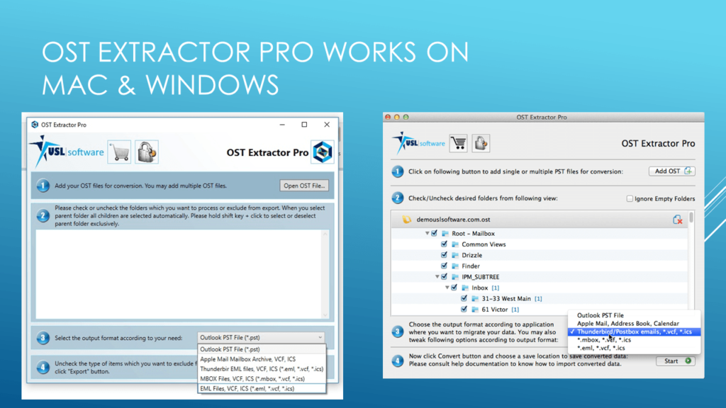how to open ost file in outlook